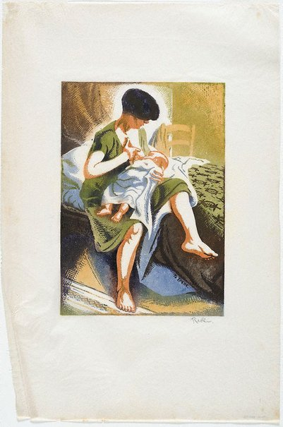 An image of Mother and child by Weaver Hawkins
