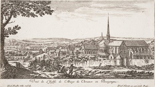 An image of View of the abbey of Clairvaux, Burgundy by Israel Silvestre