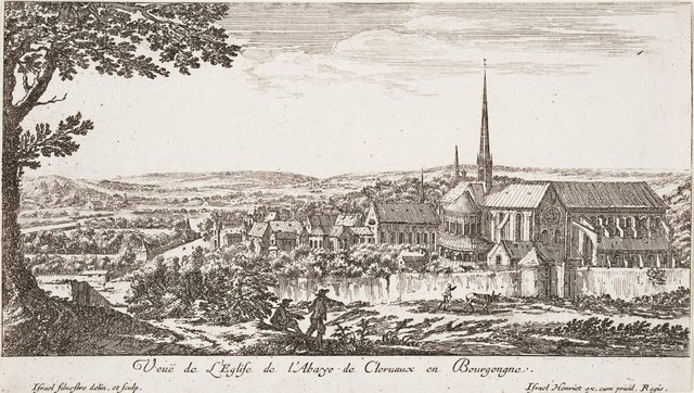 An image of View of the abbey of Clairvaux, Burgundy