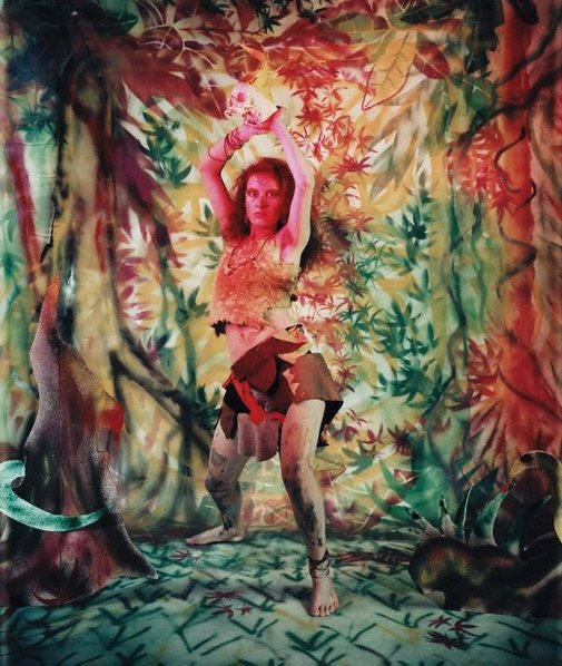 An image of Untitled (Girl in forest scene) by Robyn Stacey