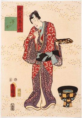 Alternate image of The pilgrimage to Sumiyoshi (Chapter 14) by Utagawa Kunisada