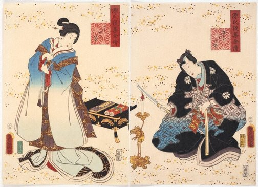 An image of Thoroughwort flowers (Chapter 30) by Utagawa Kunisada