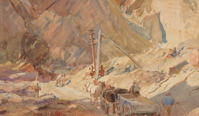 Alternate image of The quarry by Hans Heysen