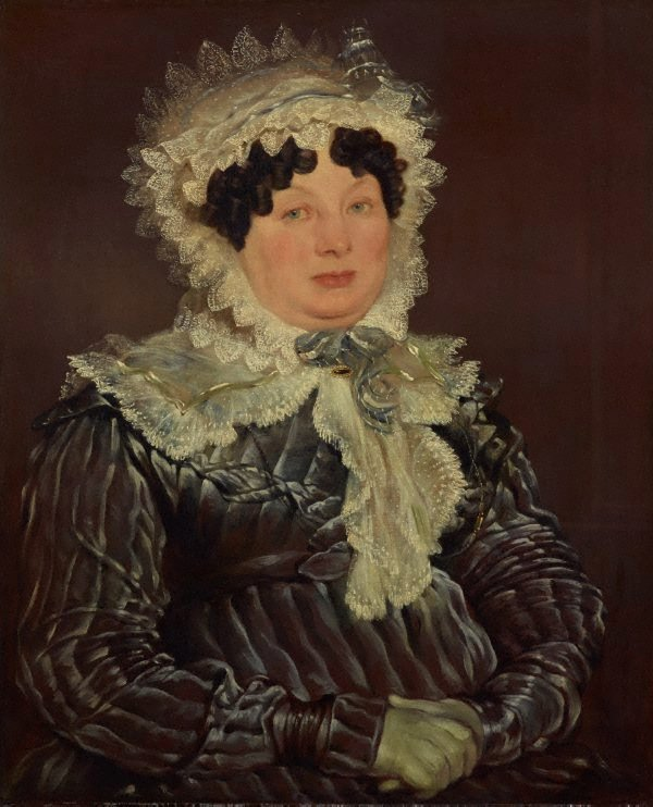 An image of Portrait of a lady in a bonnet