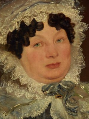 Alternate image of Portrait of a lady in a bonnet by Unknown