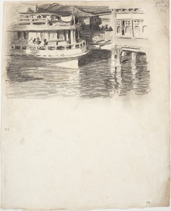 An image of Ferry approaching wharf (Mosman)