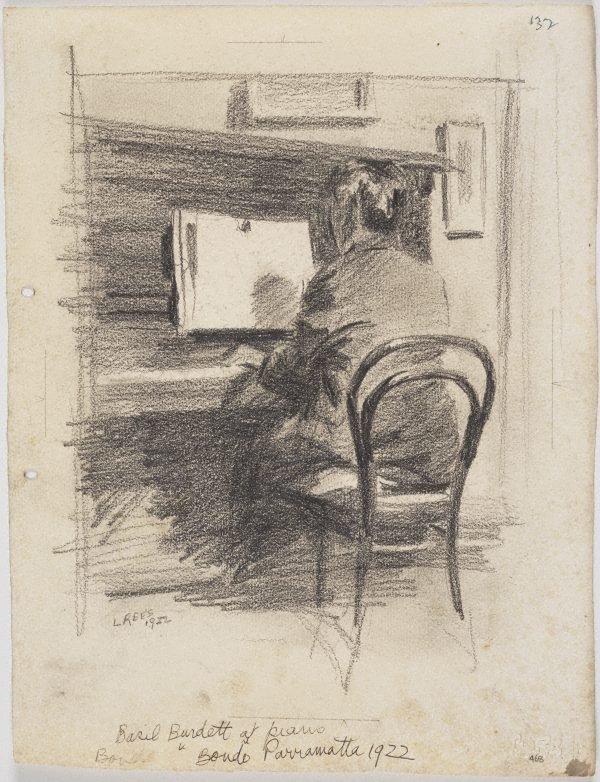 An image of Basil Burdett at the piano