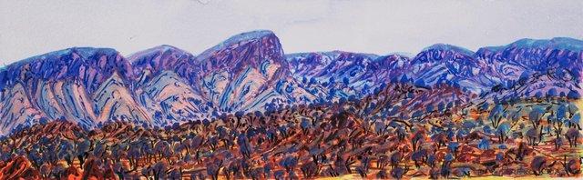Mt Gillen, NT, (2013) by Ivy Pareroultja