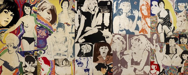 AGNSW collection Richard Larter Five in a row show (1969) 29.2018.a-e