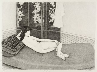 AGNSW collection John Brack Reclining nude 1981