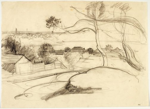 An image of Northwood and view of the Harbour by Lloyd Rees