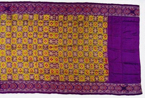 An image of 'ikat' sari by