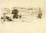 Alternate image of recto: Farm verso: Farmland by Lloyd Rees