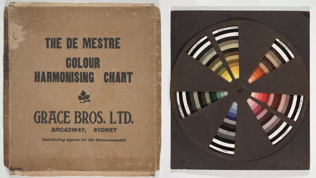 An image of The de Mestre Colour Harmonising Chart