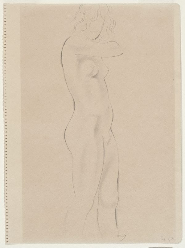 An image of Standing nude, in profile right
