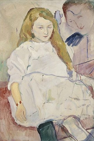 AGNSW collection Jules Pascin Mother and child (1920s) 294.1982