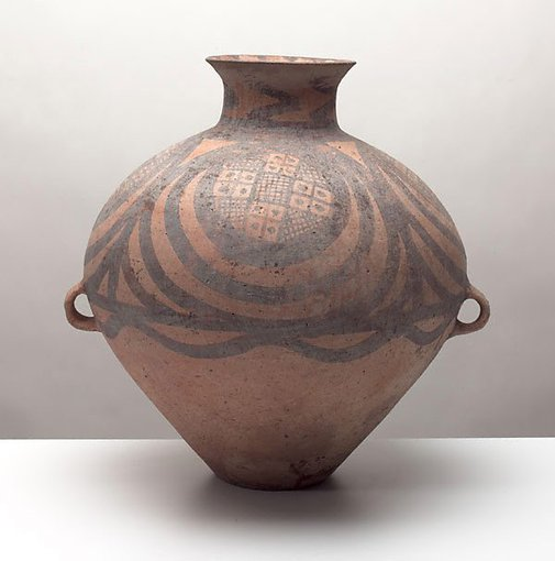 An image of Jar with painted decoration by