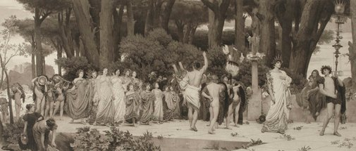 An image of The Daphnephoria by after Lord Frederic Leighton