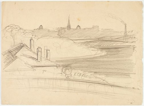 An image of recto: Harbour view from Northwood verso: Towards Omega hills by Lloyd Rees