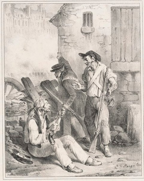An image of Well, have you struck, Jean-Louis? by Hippolyte Bellangé