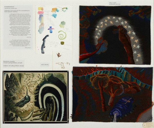 An image of Study panel for Creation landscape: Darkness and light
