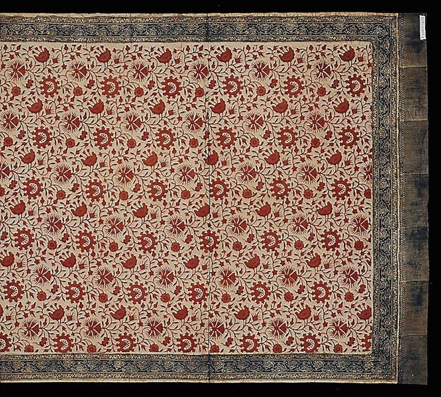 An image of Cloth with traditional Jambi stamped floral design