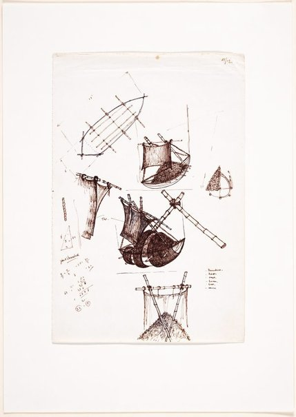 An image of (Studies of boat form and sails) by Ross Mellick