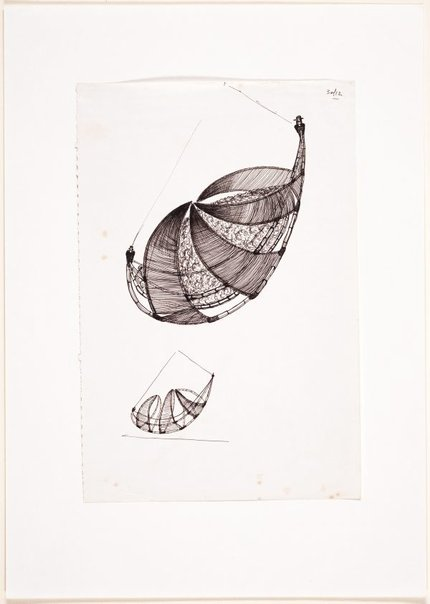 An image of (Two studies of a suspended boat form) by Ross Mellick