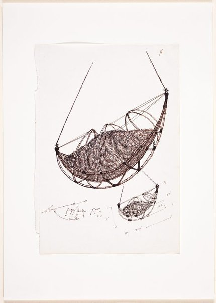 An image of (Two studies of suspended boat form) by Ross Mellick