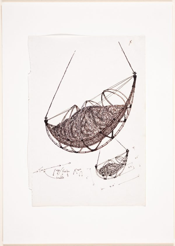 An image of (Two studies of suspended boat form)