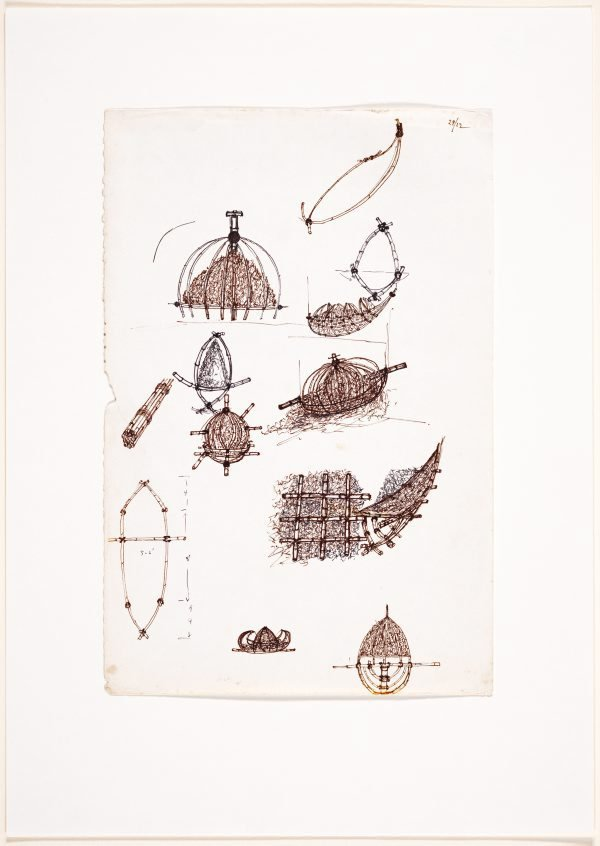 An image of (Studies of boat and yurt forms)