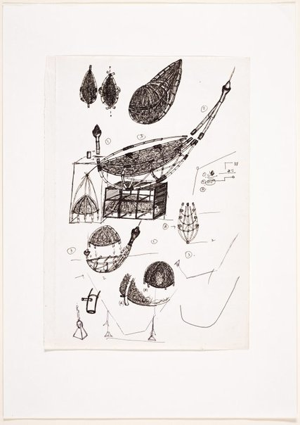 An image of (Studies of boat and yurt forms) by Ross Mellick