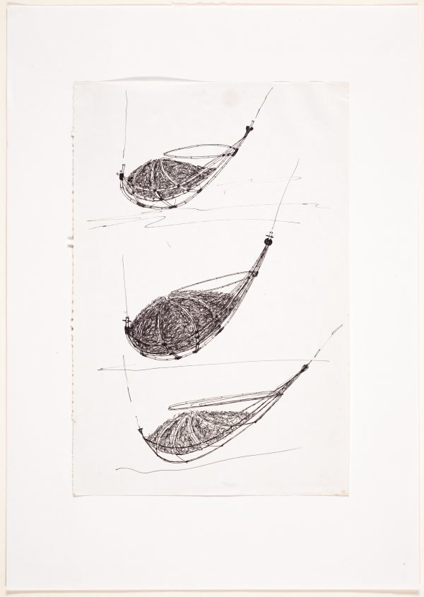 An image of (Three studies of a boat form)