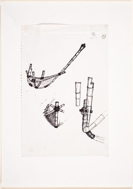 An image of (Studies of boat in construction with details close-up) by Ross Mellick