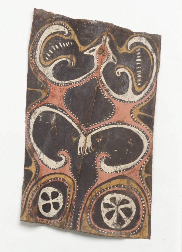 An image of Painting from ceremonial house (flying fox motif)