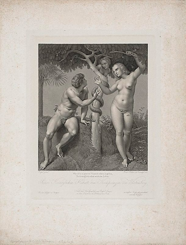 An image of Adam and Eve
