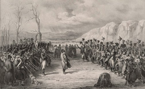 An image of Napoleon's return from the island of Elba by Hippolyte Bellangé