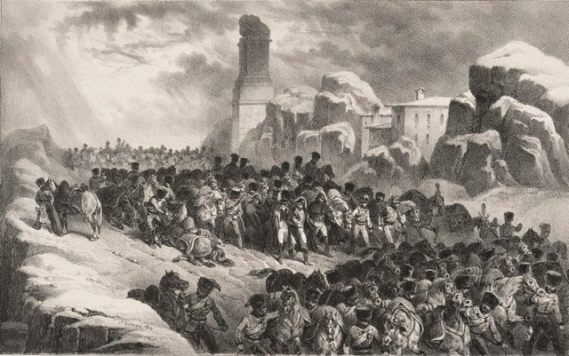 An image of Passage of the French Army through the Guadarrama mountains
