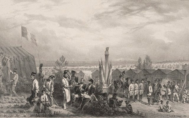 An image of Army camps at Boulogne