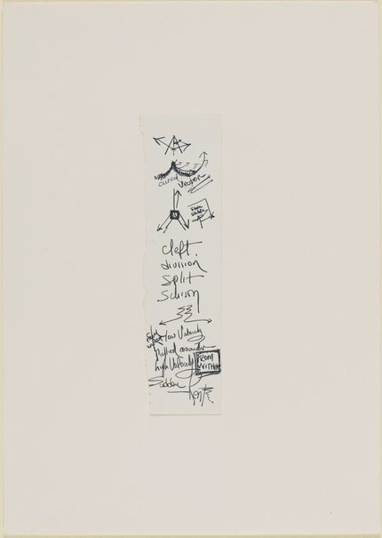 An image of Cleft, division, split, shism (& other words relating to the other drawings) by Ross Mellick