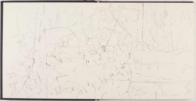 An image of Sketchbook for 'Between two logs, Kalorama'