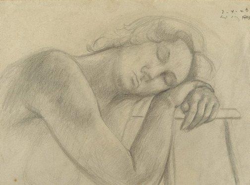 An image of Head on hands by Jean Bellette