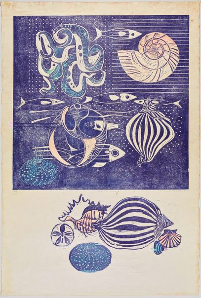 An image of Marine forms by Elaine Haxton