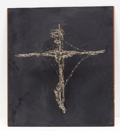An image of Christ on the Cross (model) by Margel Hinder