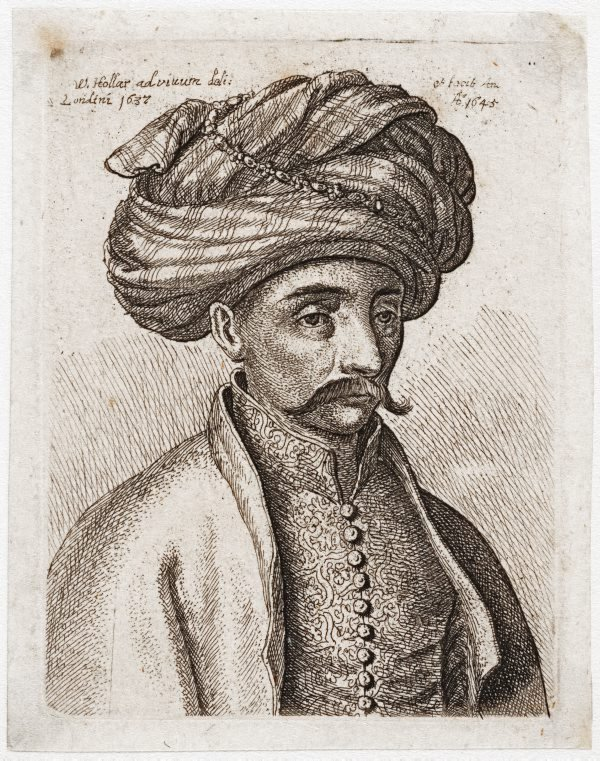 An image of (Man in oriental dress with turban, from life)