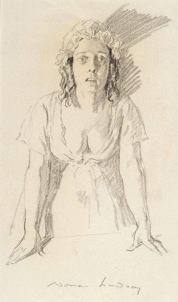 An image of Study for female figure in 'Bow Street Runners'