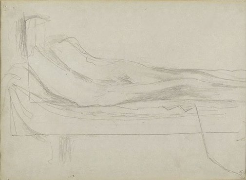 An image of Study for 'Nude and the moon' by Godfrey Miller