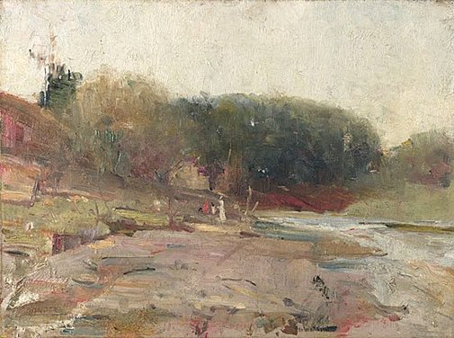 An image of On the River Yarra, near Heidelberg, Victoria by Charles Conder