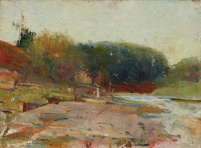AGNSW collection Charles Conder On the River Yarra, near Heidelberg, Victoria (circa 1890) 298.2002
