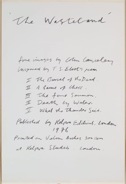 An image of Title page by Colin Lanceley